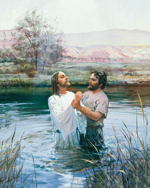 施洗約翰 為耶穌基督洗禮