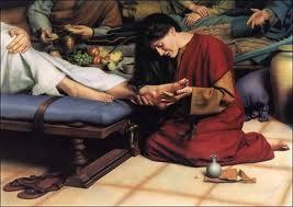 馬利亞膏抹耶穌的腳