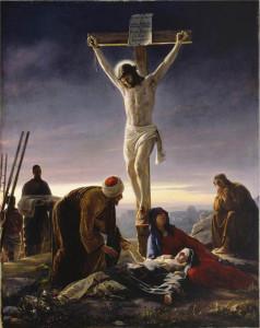 耶穌被釘死在十字架上