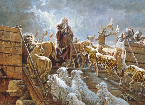 挪亞建造方舟在 福音教義 中只是政策
