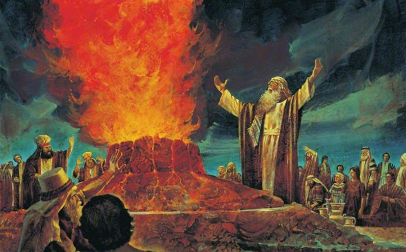 以利亞與巴力的祭司