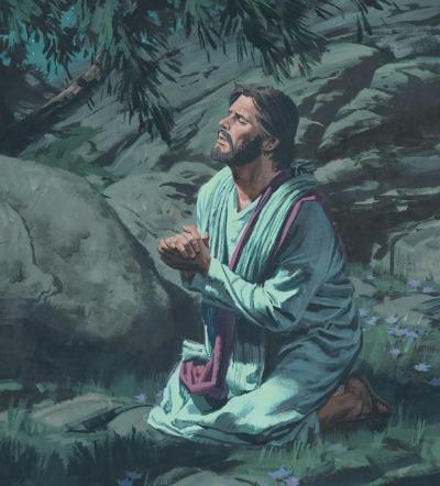 耶穌在客西馬尼園中祈禱,為我們 贖罪